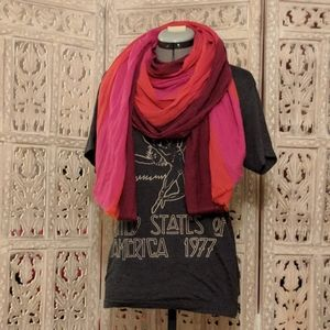 Lucky brand scarf Fuchsia, Coral, pink